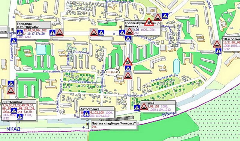Карта безопасного маршрута